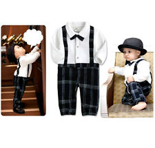 BABY BOY FORMAL WEDDING CHRISTENING TUXEDO SUIT 3-24MS