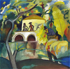 FRANZ MACKE THE RED HOUSE  EXPRESSIONISM LANDSCAPE GICLEE PRINT FINE CANVAS