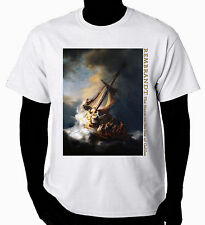 Christian Art T-Shirt The Storm on the sea of Galilee
