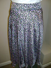 Sunny Leigh Woman Pleated Front Floral Skirt NWT $69