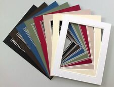 """V-Groove Picture Mounts 16x12"""".Choice of Colours/Sizes."""