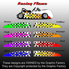 Race Flame Checker Flag Go Kart Graphic Body Decal Wrap