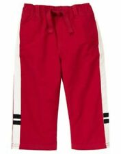 NWT Gymboree Fire Truck Chief Red Active Pants 3-6m 2T
