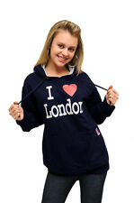 I LOVE LONDON HOODIE NAVY NY Paris HOODED SWEATSHIRT