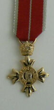 OBE Order Of British Empire Medal Miniature with ribbon