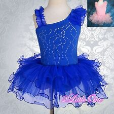 Girl Ballet Tutu Rhinestong Dance Fancy Costume Pageant Dress Size 2T-7#028
