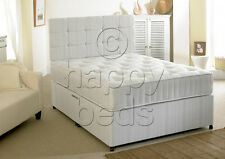5ft KING DIVAN BED, STORAGE and Headboard with ORTHOPAEDIC MATTRESS