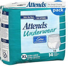 ATTENDS SUPER absorbency Diaper Brief ALL SIZES adult incontinence Disposable