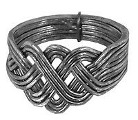 12-Band Antiqued Sterling Silver PUZZLE RING