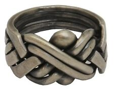 Antiqued Sterling Silver 6-Band PUZZLE RING