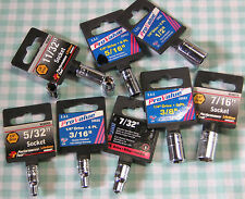 New Professional 1/4 in. Drive 6 Pt S.A.E. Sockets Choose Your Size CarQuest SAE