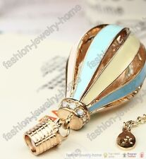 Fashion crystal fire balloon Necklace pendant