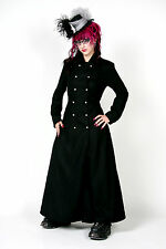 Hilary's Vanity Gothic Steampunk Goddess Black Wool Coat