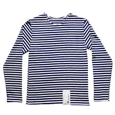 Genuine RUSSIAN NAVY BLUE Stripe T-Shirt Top All SIZES sailor Long Sleeve Naval