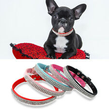 New Colorful Bling Dog Rhinestone Collar Pets PU Leather Collar Cat Puppy Collar