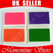 12 colours oil base ink pad for paper / Fabric / wood Free Shiping