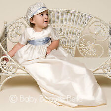 "Baby Beau & Belle ""Justin"" Boys Silk Christening and Baptism Gown"