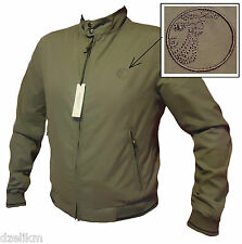 NWT $695 Versace Collection Logo Lightweight Golf Jacket in Silver (Gray/Grey)