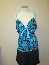 It Figures! Hip Hider Tie Front Pineapple Skirtini NWT