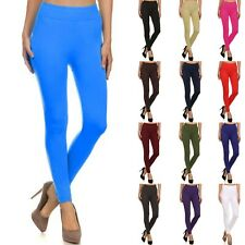 Footless Full Length Stretch Leggings Pants Seamless One Size L02