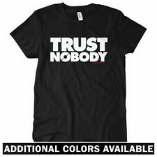 TRUST NOBODY Women's T-shirt Anarchy Protest Occupy Wall Street Conspiracy S-2XL
