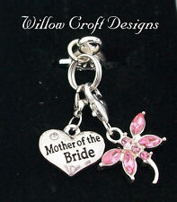 BRIDAL WEDDING DRAGONFLY MOTHER of the BRIDE/GROOM CHARM GIFT + LUCKY SIXPENCE