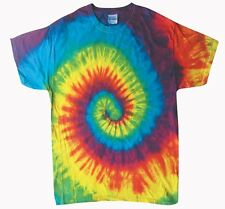 Reactive Rainbow Tie Dye T-Shirts Youth XS to Adult XL Cotton. Check Description