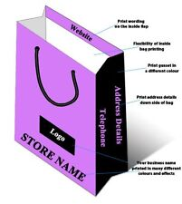 Small Medium Custom Printed Paper Rope Handle Carrier Bags Gift Shop Fashion