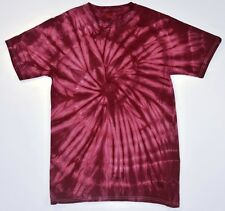 Burgundy Tie Dye T-Shirts Size Youth to Adult XL, Cotton, Short Sleeve, Reds