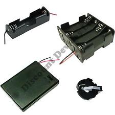 1/2 / 3/4 / 6/8 / x AA / AAA / 23A / 9V battery holder / Snap a connettore / racchiuso BOX / SWITCH