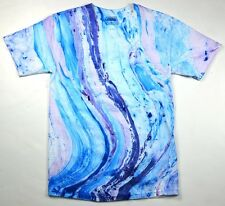 Marble Blue Purple Tie Dye T-Shirts Size Youth XS to Adult XL. Check Description