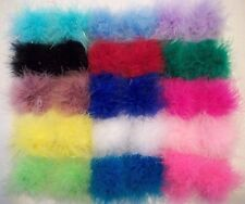 "ONE PAIR OF 3""  MARABOU FEATHER PUFF HAIR CLIPS (12 COLORS TO CHOOSE FROM)"