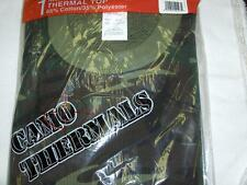 COLD MASTER CAMOUFLAGE THERMAL SHIRT HEAVY L/S USA FABRIC SIZE: 2XL Fits XL