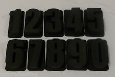 Individual NUMBERS Personalised Silicone Cake Mold Pan use with LETTER MOULDS