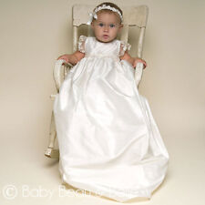 "Baby Beau & Belle ""Leila"" Girls Silk Vintage Christening and Baptism Gown"
