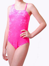 Velvet Leotard Plain Front with One Shoulder - Girls Dance Leotard - (#WANDA)