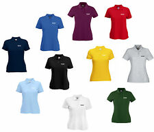 PERSONALISED LADY-FIT POLO SHIRT PRINTED WOMEN'S CUSTOM WORK CLUB HEN PARTY TEAM