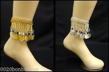 belly dance anklet evil eye coins ankel egyptian gypsy ethnic jewelry tribal 112