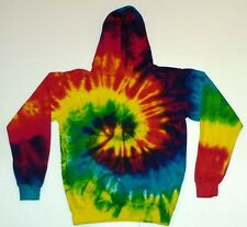 Tie Dye Rainbow Hooded Sweatshirts Hoodie Pullover Adult S M L XL 2XL 3XL Cotton