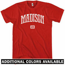 Madison 608 T-shirt - Wisconsin Dane Badgers UW Tee - Men and Kids - XS to 4XL