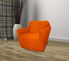 ORANGE JERSEY CHAIR STRETCH SLIPCOVER, COUCH COVER, FURNITURE SOFA FREE SHIPPING