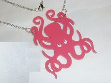 NEW PNK OCTOPUS EVIL EYES NECKLACE PENDANT SIL CHN PUNK EMO