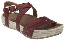 Women's Kalso Earth Shoes Enlighten Rosso Red Leather Comfy Sandal