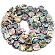 """8mm Natural Square Multicolor Abalone Shell Gemstone Spacer Beads Strand 15"""""""