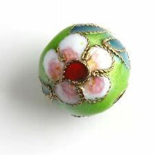 20pcs Round Mixed Chinese Cloisonne Spacer Bead 12mm Dia Pick Color Free Ship