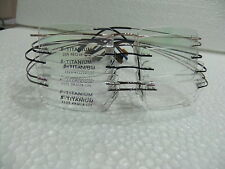 HINGELESS TITANIUM RIMLESS Optical Rx Eyeglasses Frames ( Available in 6 Colors)