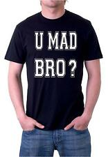 U MAD BRO Jersey Shore Quotes GTL Guido Funny Hilarious Men's T-shirt