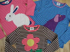 MINI BODEN GIRLS APPLIQUÉ TOP- DOG FLOWER RABBIT BNWOT **freepost**