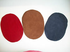 (2) DEERSKIN SUEDE LEATHER ELBOW PATCHES -  7'' BY 5''    MADE IN THE USA