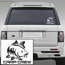 CARP CREW hunter pike fishing angler rod spinning car sticker 210mm x 120mm